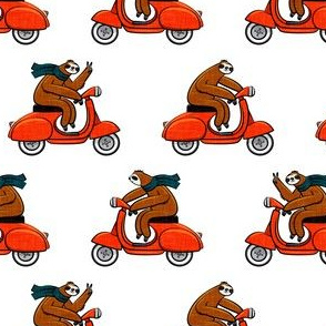 Scooter Sloths - Red