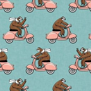 scooter sloth - pink
