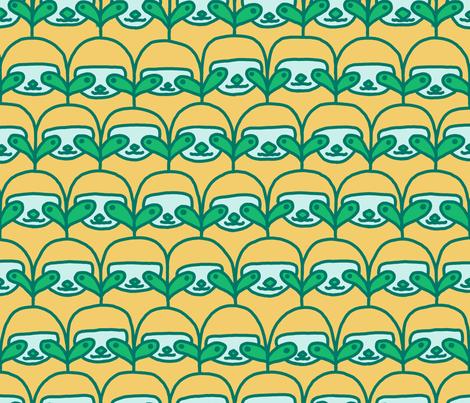 Serene Smiling Scalloped Sloths