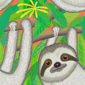 Happy sloths