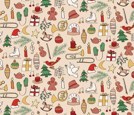 glad tidings on powder fabric by juliaschumacher on Spoonflower - custom fabric
