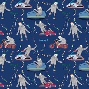 sloth tivoli pattern bluebg-01