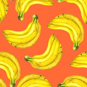 Bananas watercolor
