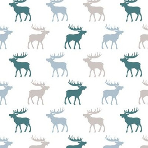 Canadian winter animals woodland moose deer blue boys