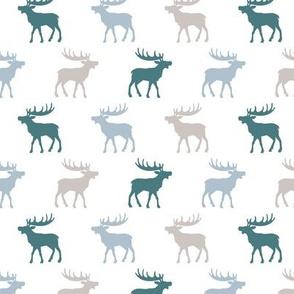 Canadian winter animals woodland moose deer blue boys