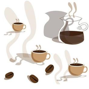 Coffie Break-Garden Tea Party,Repeat Pattern.