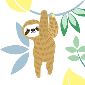 Sloth hanging in there