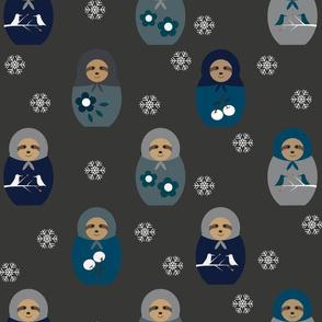 Blue Matyroshka Sloths