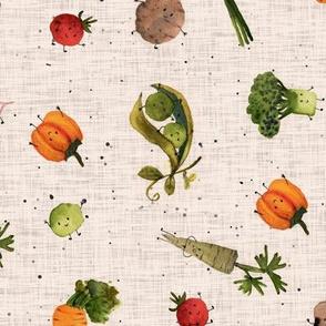 veggies beige