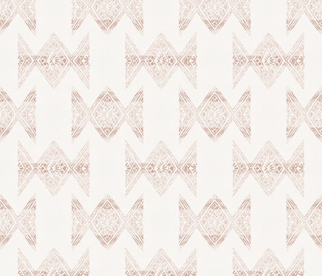 YUMI TRIBAL MARSALA LIGHT fabric by holli_zollinger on Spoonflower - custom fabric