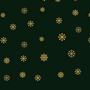 Christmas Snowflakes in green