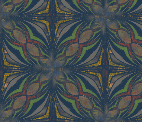 Blue Fazarn fabric by david_kent_collections on Spoonflower - custom fabric