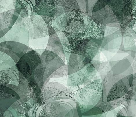 fan-shells-emerald teal fabric by wren_leyland on Spoonflower - custom fabric