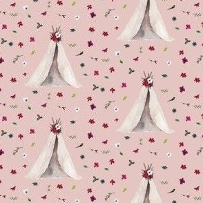"2.5"" Christmas Teepee Floral // Cavern Pink"