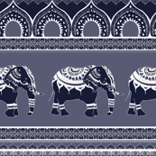 Ethnic  pattern / Elephants