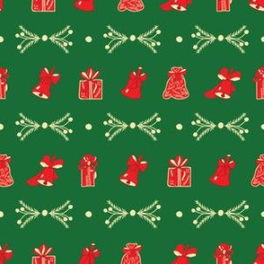 Green and Red Christmas Pattern