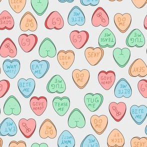 NSFW candy hearts gray