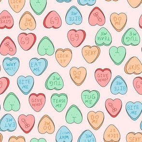 NSFW candy hearts blush