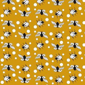 Ladybird polka dot mustard