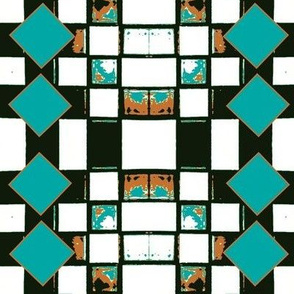 Rustic Tile-Turquoise
