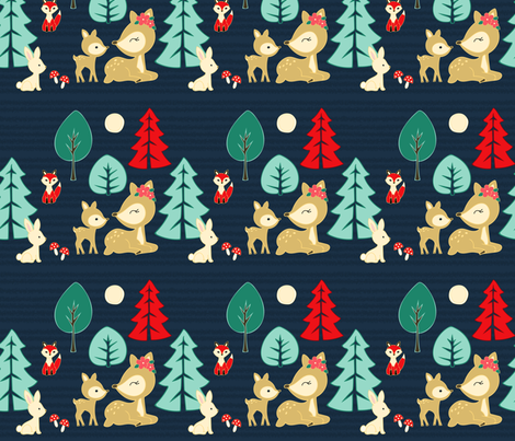 Forest Animal Friends fabric by twix on Spoonflower - custom fabric