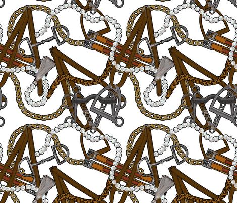 Classic Equestrian II fabric by cooper+craft on Spoonflower - custom fabric