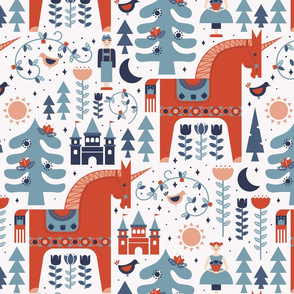 Scandinavian Fairy Tale Blue + Orange