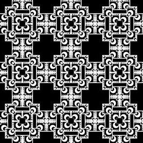 Layered Squares - Black/White