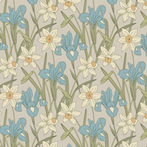 Iris and daffodils (2)
