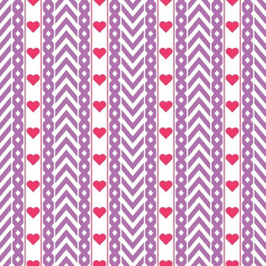 Chevron and Hearts Pattern