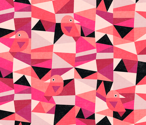 Scandinavian Birds fabric by kimsa on Spoonflower - custom fabric