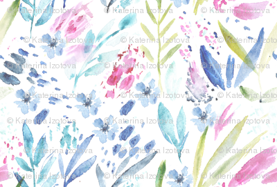 Scandi bloom || watercolor florals