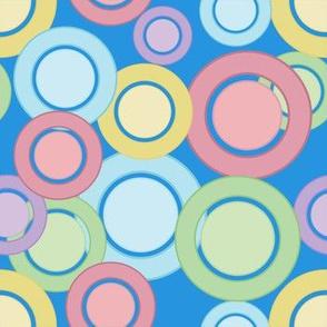 Pastel Circles (Blue)