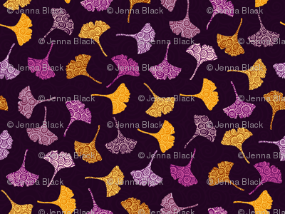 Ginko-leaves-orange-and-purple_preview
