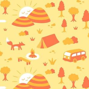 Camping Yellow Orange
