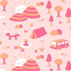 Camping Pink Orange