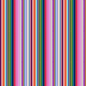 Multicolor Mexican Serape Inspired Stripe Fabric (Smaller Scale)