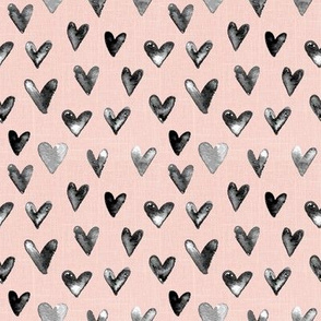 "4"" Watercolor Hearts // Blush Linen"