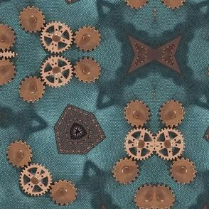 Copper Gears Steampunk Pattern