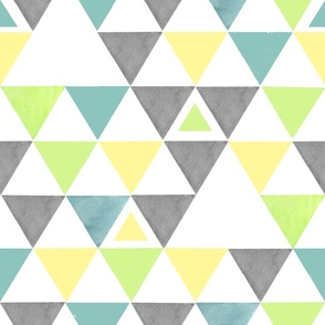 Yellow and Green and Gray Triangles