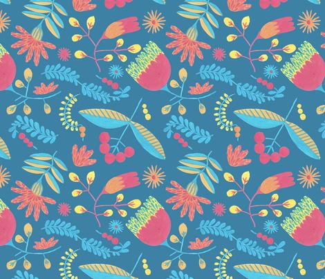 Christmas pattern seamless and herbal background fabric by oleg&katya on Spoonflower - custom fabric
