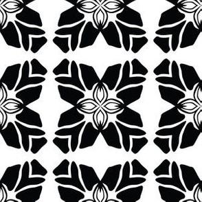 Black on White Leaf Quilt