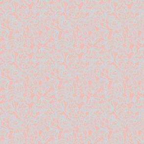 tiny lace // BFE1E6 on FFB4AA