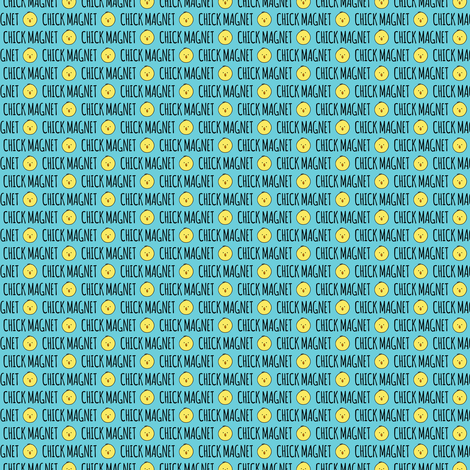 (micro scale) Chick Magnet - Easter Fabric C18BS fabric by littlearrowdesign on Spoonflower - custom fabric