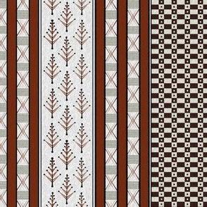 inca weaves white clay