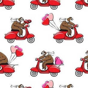 Scooter Sloths  - Valentine's Day