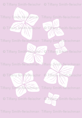 flower scatter-white on pink