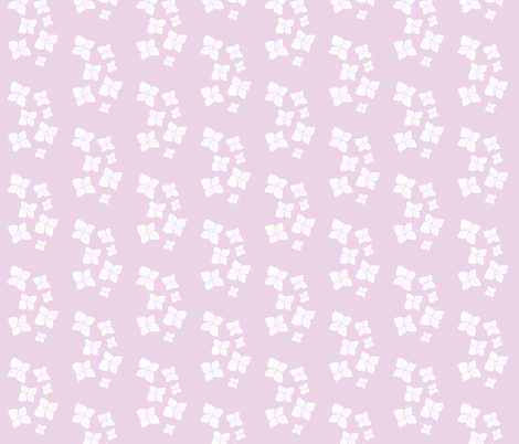 flower scatter-white on pink fabric by tee-ess-eff on Spoonflower - custom fabric