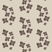flower scatter-brown on taupe