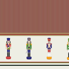 Christmas Nutcrackers Striped border